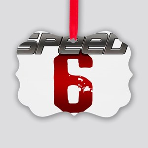 Speed 6 copy Picture Ornament