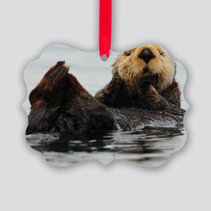 115x9_calender_otter_1 Picture Ornament