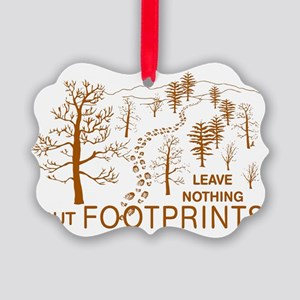 Leave Nothing but Footprints Brow Picture Ornament
