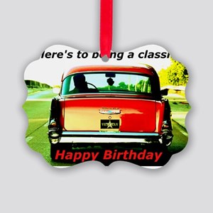 Being Classic Birthday Card Picture Ornament