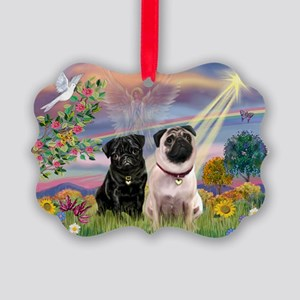 3-TILE- CloudStar-Pug13-Fawn2 Picture Ornament