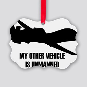 my other vehicle is unmanned  Picture Ornament