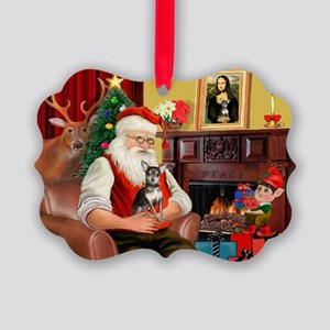 Santa's Chih (b&t) Picture Ornament