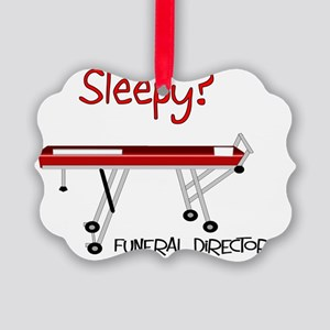 Sleepy funeral director Picture Ornament