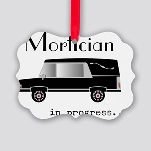 Mortician in progress Picture Ornament