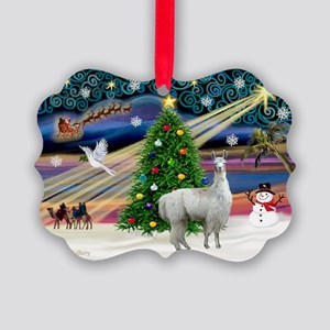 XmasMagic-Llama Picture Ornament