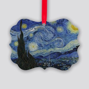 starry trek night Picture Ornament