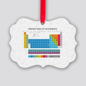Periodic Table Of Elements With C Picture Ornament
