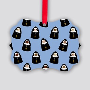 Cute Nuns Picture Ornament