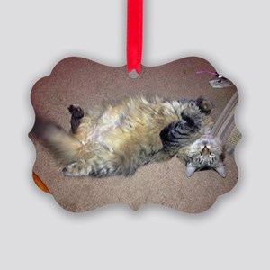Very happy formerly stray Maine Coon Ornament