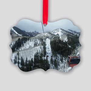 Mountain Gondola Ride Picture Ornament