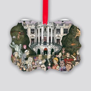 Us presidents at the white house Picture Ornament
