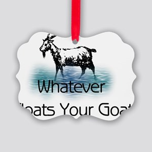Whatever Floats Your Goat Picture Ornament