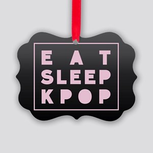 Eat Sleep Kpop Picture Ornament