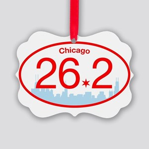 Chicago Marathon Bright Picture Ornament