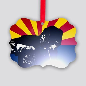 Welding: Arizona State Flag & Wel Picture Ornament