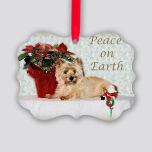 Peaceful Cairn Terrier Picture Ornament