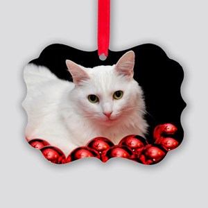 Xmas Cat Picture Ornament