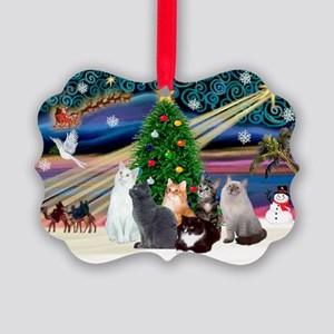 Xmas Magic / Six Cats Picture Ornament