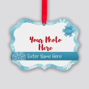 Snowflake Personalized Picture Ornament