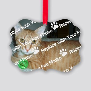CUSTOMIZE Add Your Pet Photo Picture Ornament
