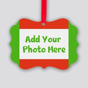 CUSTOMIZE With Your Photo Holiday Picture Ornament
