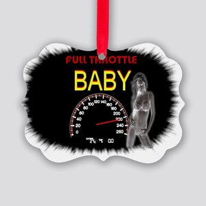 full throttle baby Picture Ornament
