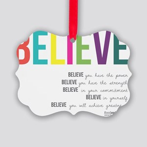 Believe_revised_products_2 Picture Ornament