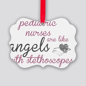 Angels with Stethoscopes Picture Ornament