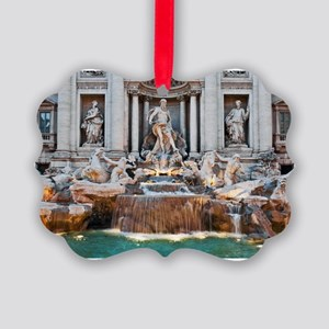 Trevi Fountain Picture Ornament