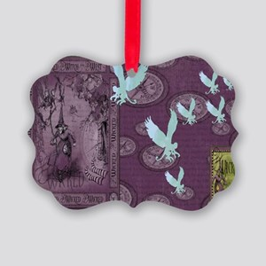 Wickedly Purple Medium 2 Picture Ornament