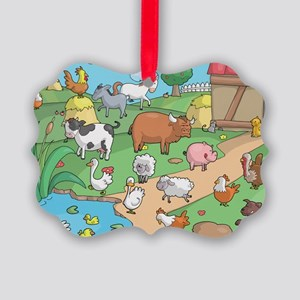 Farm Animals Picture Ornament