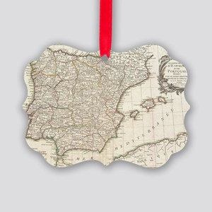Vintage Map of Spain (1775) Picture Ornament