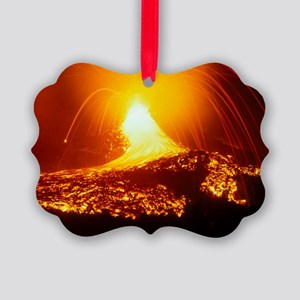 Lava flow and vent Picture Ornament