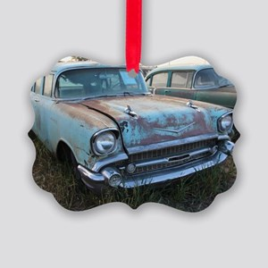 Chevy  Bel Air Blue Lambrecht  Picture Ornament
