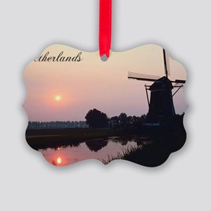 WindmillNetherlands1 Picture Ornament