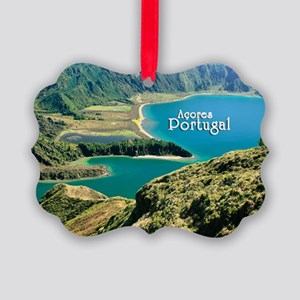 Lagoa do Fogo Picture Ornament