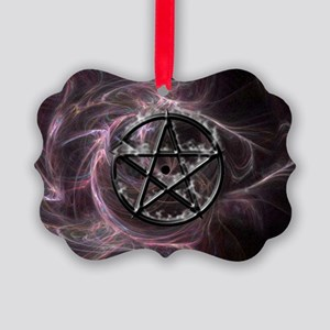 pentagram3_miniposter_12x18_fullb Picture Ornament