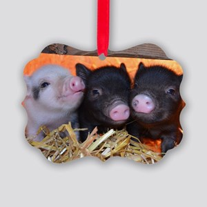 3 Little Pigs Picture Ornament