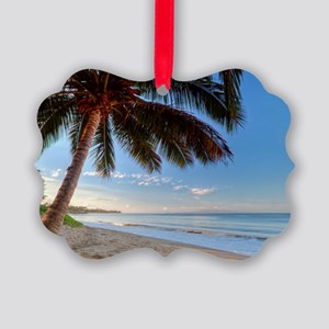 Maui Paradise Beach Hawaii 3 Picture Ornament
