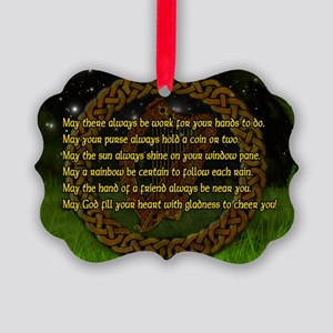 IRISH-BLESSING-LAPTOP- Picture Ornament