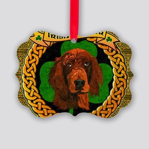 IRISH-SETTER-CELTIC-LAPTOP Picture Ornament