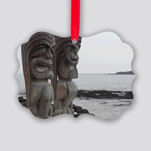 Place of Refuge Tikis Picture Ornament