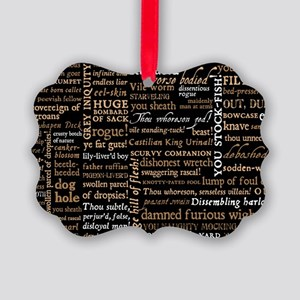 Shakespeare Insults Picture Ornament