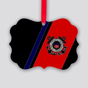 USCGBlackCapRacingS... Picture Ornament
