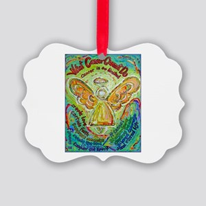 Rainbow Cancer Angel Picture Ornament
