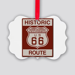 Rancho Cucamonga Route 66 Picture Ornament