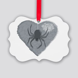 Stoneheart Halloween spider Picture Ornament