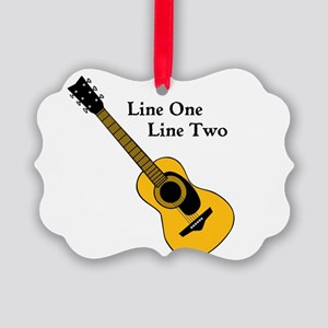 Custom Guitar Design Ornament