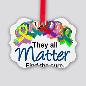 Support All Cancers Ornaments - CafePress